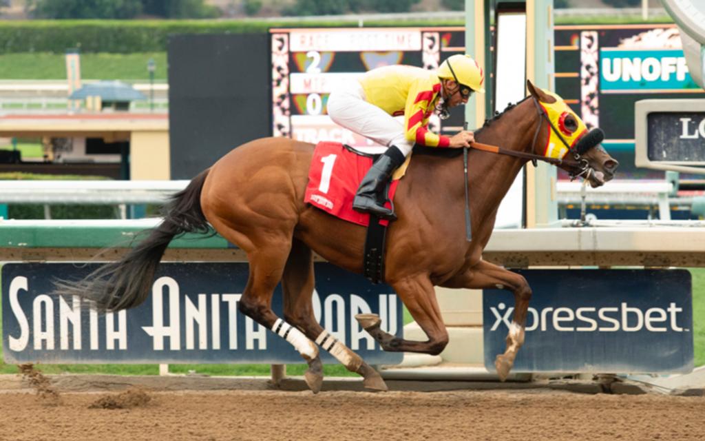 Lovacres homebred wins Maiden Special Weight at Santa Anita.