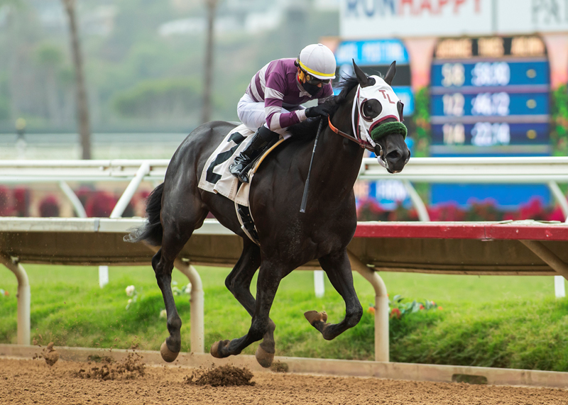 Govenor Goteven wins the CTBA stakes at Del mar